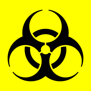 Biological hazard trefoil symbol