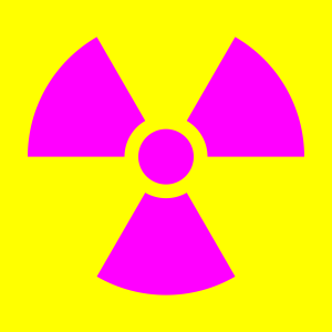 Adapted from https://commons.wikimedia.org/wiki/File:Radiation_warning_symbol-US.svg Public domain