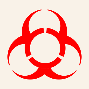 Rejected biohazard symbol 1